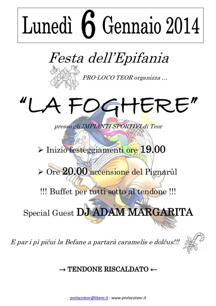 La Foghere 2014_locandina A4