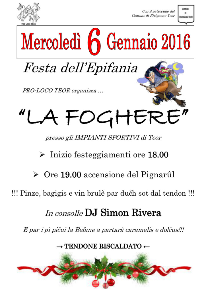 La Foghere 2016_locandina A4