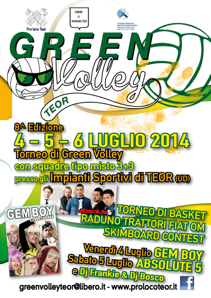 GREEN VOLLEY 2014_pieghevole A4_fronte