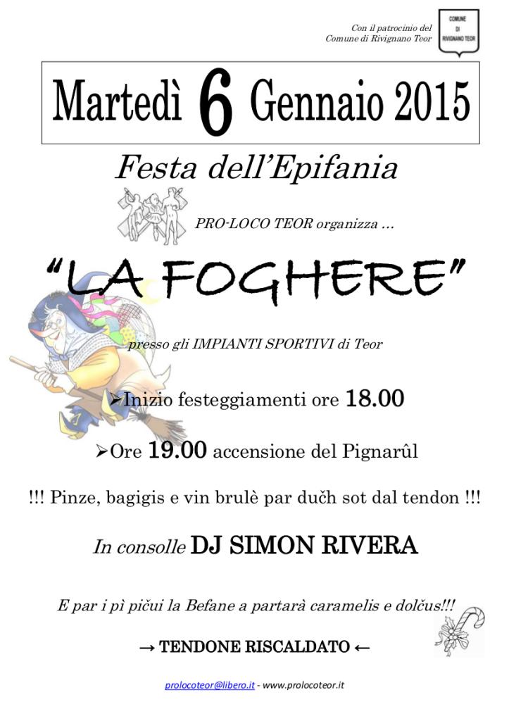 La Foghere 2015_locandina A4