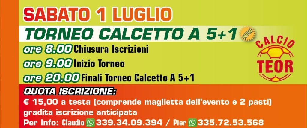 Torneo CALCIO A 5+1 GV Teor 2017