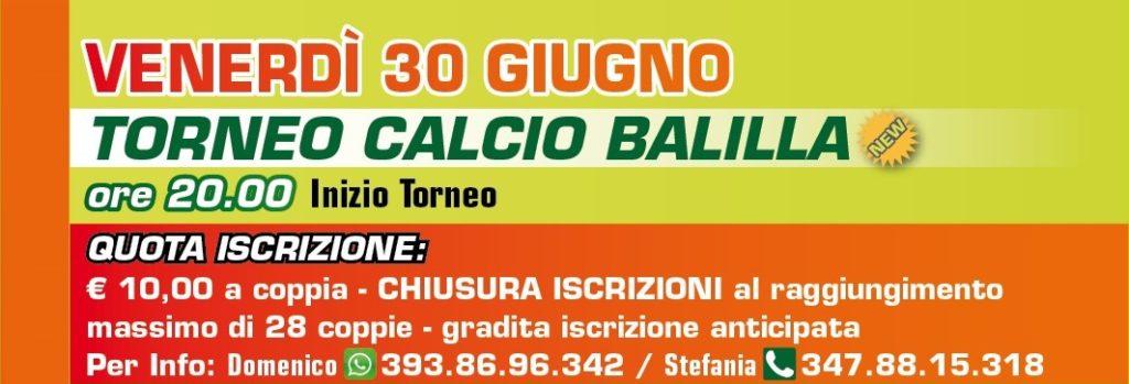 Torneo CALCIO BALILLA GV Teor 2017