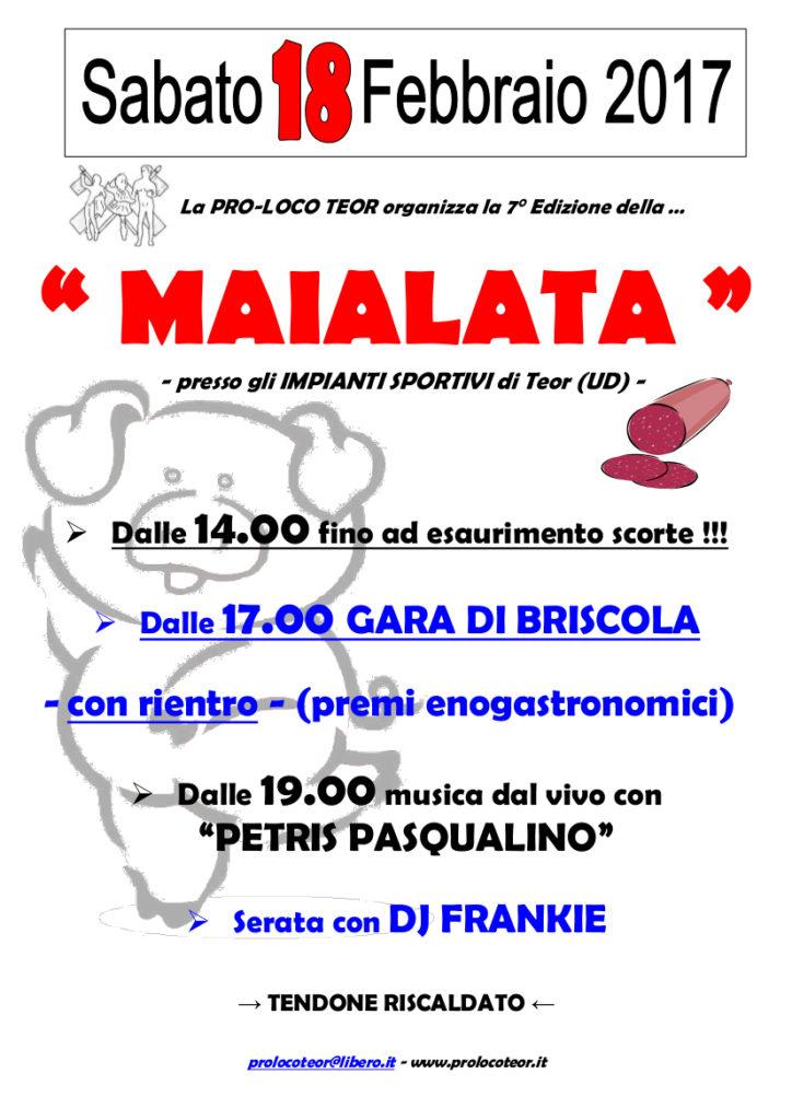 La Maialata 2017_locandina A4