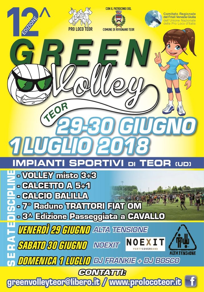 GREEN VOLLEY 2018_volantino _FRONTE_DEF