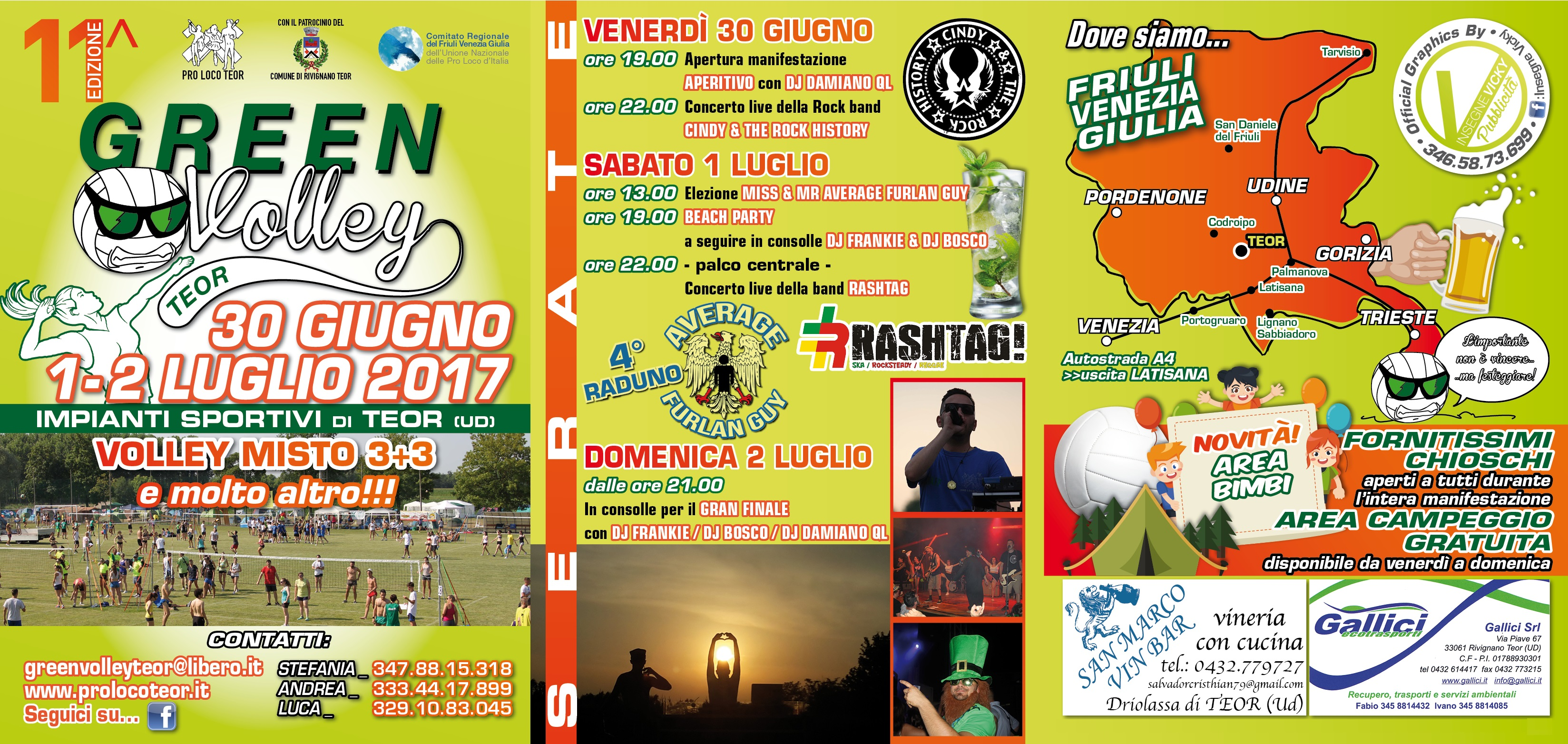 GREEN VOLLEY 2017_programma completo